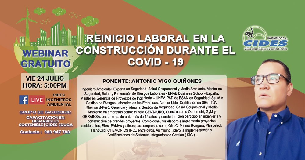 REINICIO LABORAL EN «LA CONSTRUCCIÓN» DURANTE EL COVID-19 (S5-1)