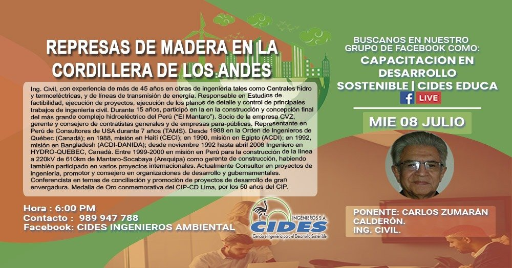 REPRESAS DE MADERA EN LA CORDILLERA DE LOS ANDES (S3-1)