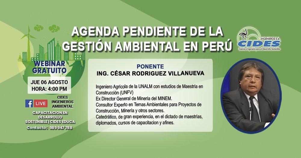 AGENDA PENDIENTE DE LA GESTIÓN AMBIENTAL EN PERÚ(S6-1)