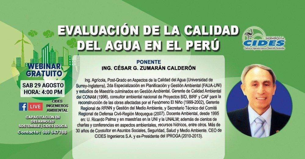 EVALUACIÓN DE LA CALIDAD DEL AGUA EN EL PERÚ (S8-1)