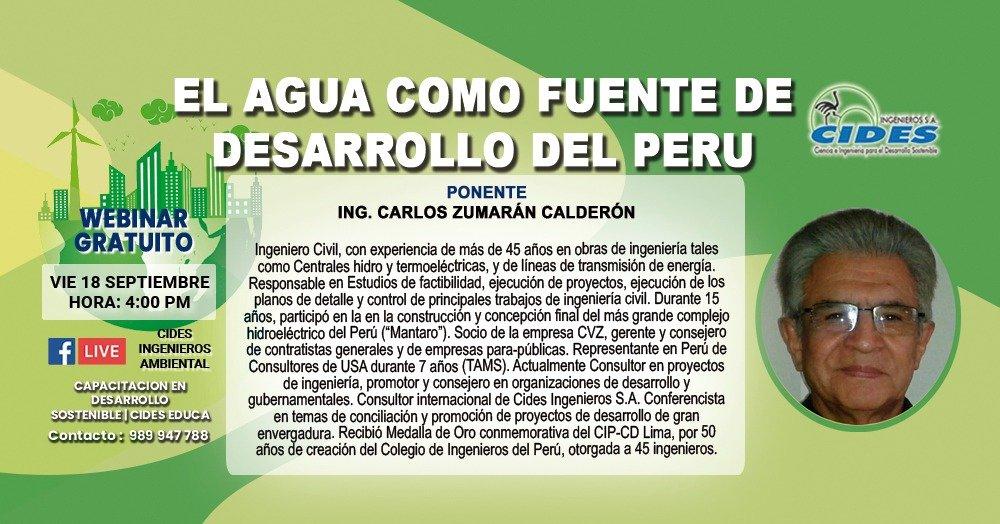 EL AGUA COMO FUENTE DE DESARROLLO EN EL PERÚ (S10-1)
