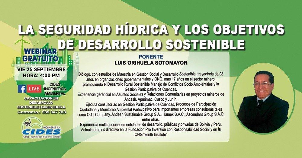 LA SEGURIDAD HÍDRICA Y LOS OBJETIVOS DEL DESARROLLO SOSTENIBLE (S11-1)